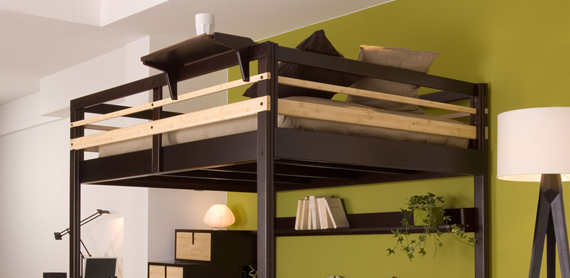 Come recuperare spazio con il letto a soppalco soluzioni - Letto soppalco matrimoniale ikea ...