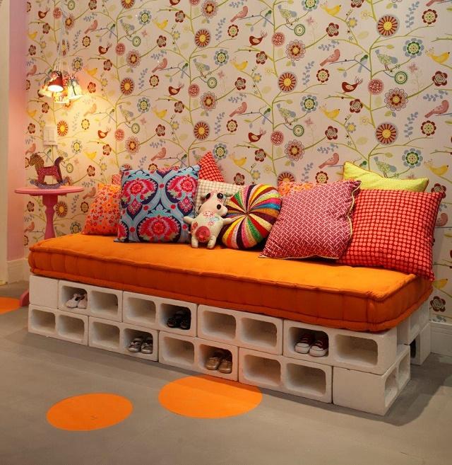 Come costruire un divano di mattoni - Soluzioni di Casa
