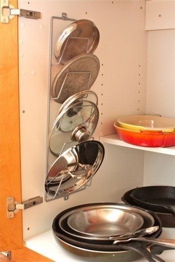 Come organizzare i coperchi delle pentole   soluzioni di casa